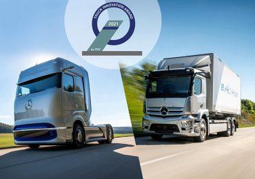 Найінноваційніші вантажівки 2021 року: Mercedes-Benz eActros та  GenH2 отримали престижну нагороду