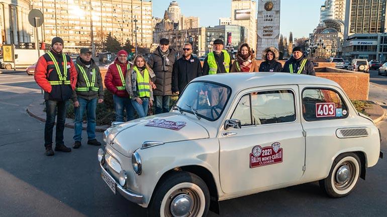 Українська команда на українських автомобілях — учасник ретро-ралі Монте-Карло