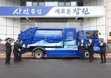 У Чханвоні, названому «водневим містом», випробовують сміттєвоз на водневому паливі