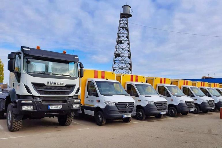 ДТЕК Одеські електромережі повідомив про закупівлю 28 одиниць нової спецтехніки