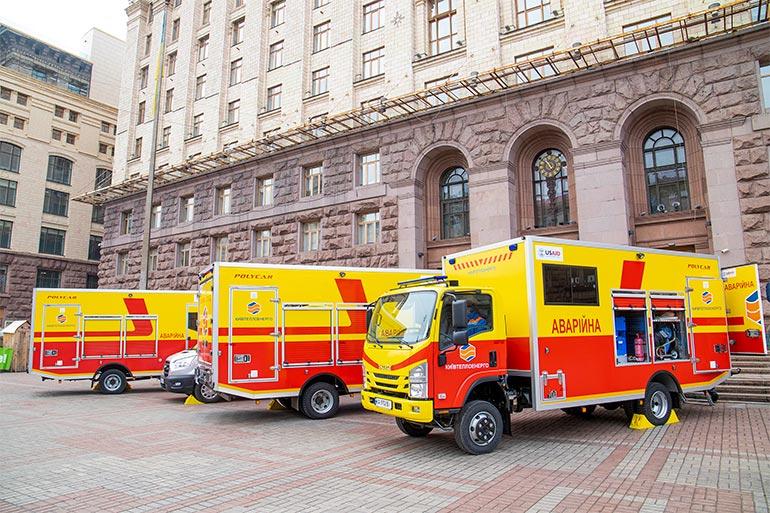 КП «Київтеплоенерго» на безоплатній основі отримало чотири спеціалізовані автомобілі