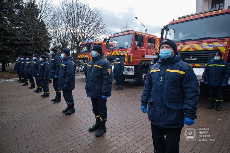 Пожежники Донеччини отримали нову техніку, обладнання та спорядження