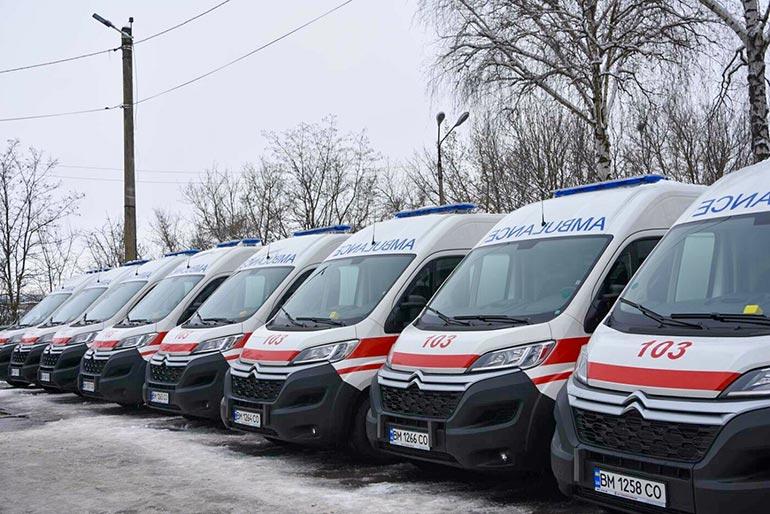 24 автомобілі швидкої допомоги «Citroen Jumper» типу В надійшли на Сумщину