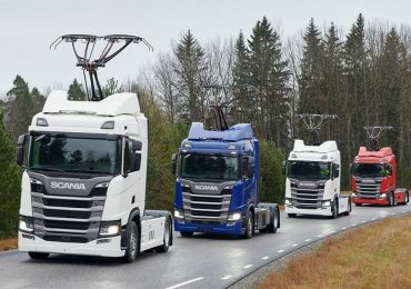 Scania поставить ще 7 вантажівок з пантографами для електричної дороги