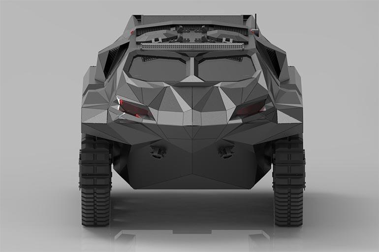Українські конструктори представили гібридний бронеавтомобіль «Шторм» на IDEX-2021