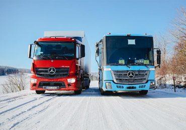 Перед серійним запуском електровантажівки eActros і eEconic перевірили морозом