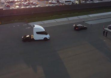 З'явилися відеоролики із Tesla Semi на випробувальному треку