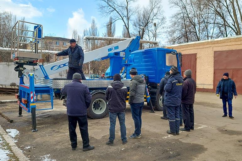Автовишка SOCAGE на шасі МАЗ працюватиме в Кременчуці