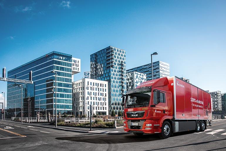 Пошта Норвегії покладається на вантажівку MAN eTGM