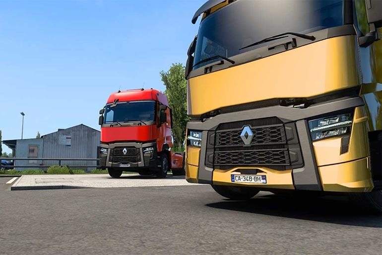 Renault Trucks представила оновлені вантажівки серії T в грі Euro Truck Simulator 2