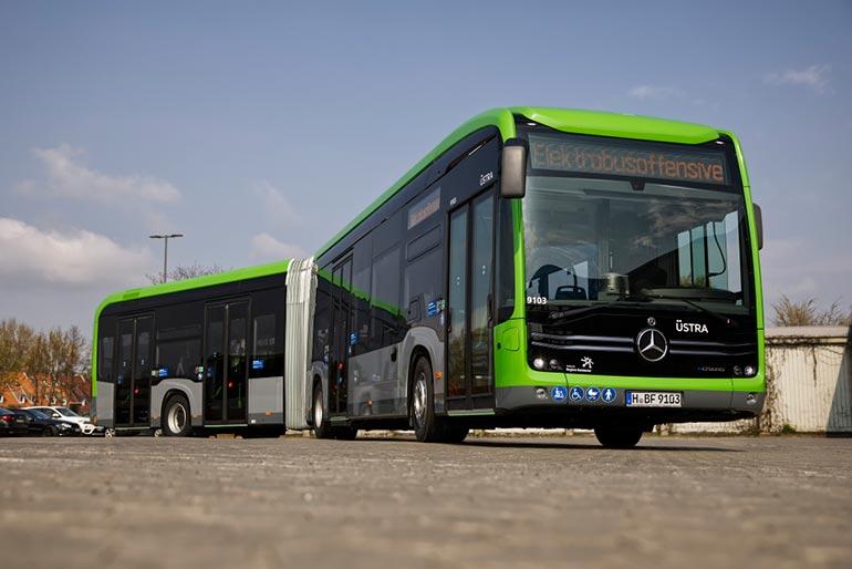 Електричні автобуси Mercedes-Benz працюватимуть в Ганновері