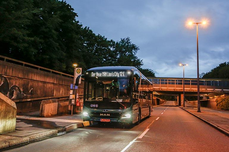 Електробус MAN подолав позначку дальності пробігу у 550 кілометрів без підзарядки