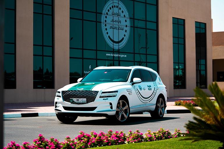GENESIS GV80 приєднався до автопарку суперкарів поліцейського управління Дубая