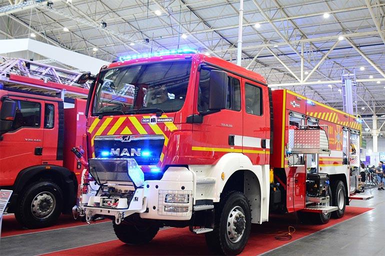 «Пожмашина» на виставці «Технології захисту/ПожТех» представила пожежну автоцистерну на шасі MAN