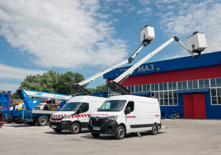 Найпопулярніші у Європі автовишки на базі суцільнометалевих фургонів здобувають успіх на ринку України