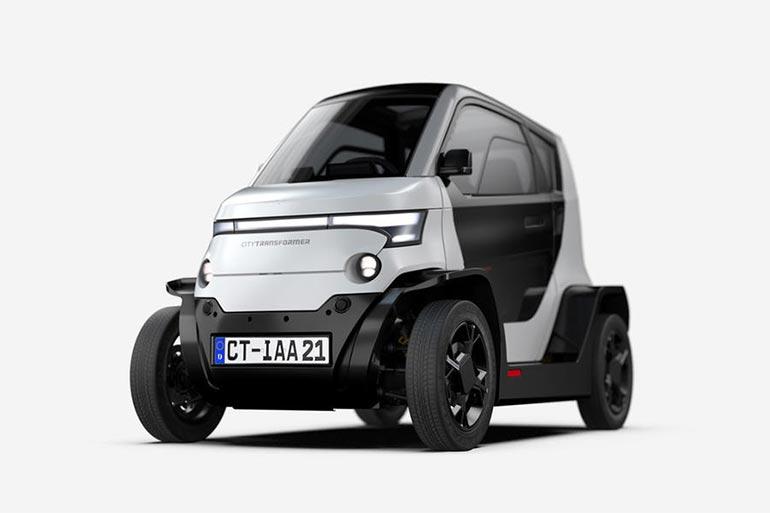 На Мюнхенському автосалоні ізраїльський стартап City Transformer представив електрокар, який зменшується до 1 м