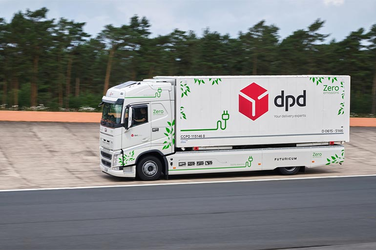 Електрична вантажівка, побудована на шасі 19-тонного Volvo FH, встановила рекорд: пробіг на одному заряді — більше 1000 км